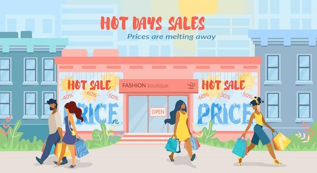 Cartaz publicitário os preços estão derretendo plano