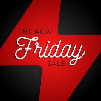 Cartaz quadrado de grande venda do black friday flash