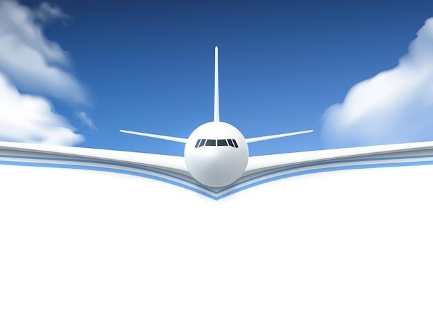 Cartaz realista de avião