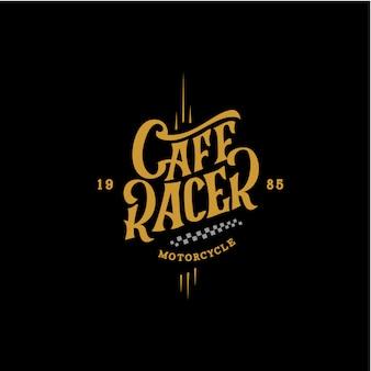 Cartaz retro da motocicleta do piloto do café