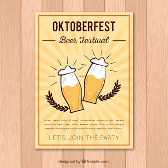 Cartaz retro do festival da cerveja