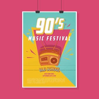 Cartaz retro do festival de música vintage