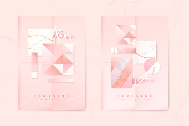 Cartaz rosa feminino
