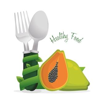 Cartaz saudável do cozinheiro da dieta de comida
