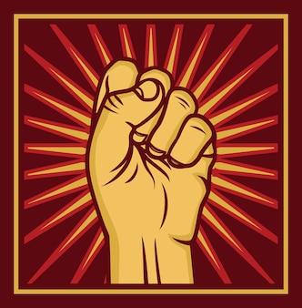 Cartaz sobre direitos humanos