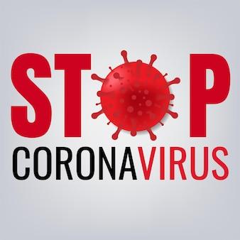 Cartaz stop coronavirus 2019 ncov com malha gradiente
