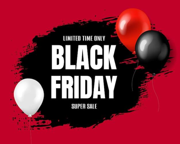Cartaz super sale black friday com malha gradiente,