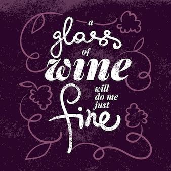 Cartaz tipográfico da carta de vinhos. mão-extraídas ilustração vetorial. design do menu