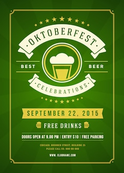 Cartaz tipográfico festival de cerveja oktoberfest