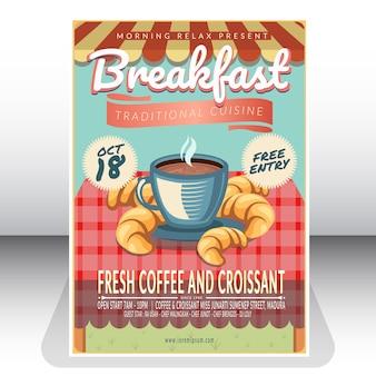 Cartaz tradicional de café da manhã