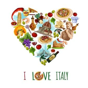 Cartaz turístico de itália