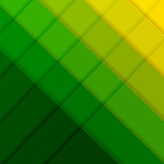Cartaz verde e amarelo com linha