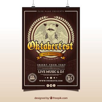 Cartaz vintage de mais oktoberfest