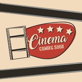 Cartaz vintage do cinema