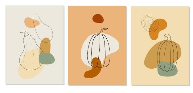 Cartazes abstratos de outono