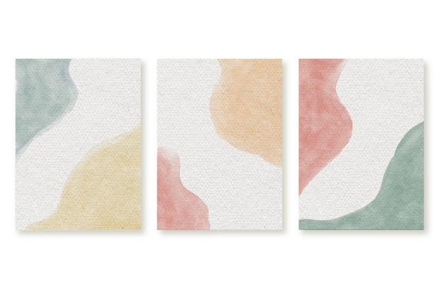 Cartazes abstratos em aquarela