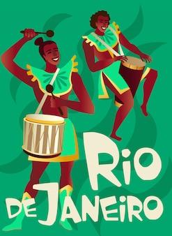 Cartazes brasileiros de samba