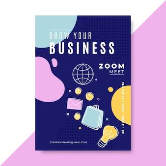 Cartazes coloridos de negócios