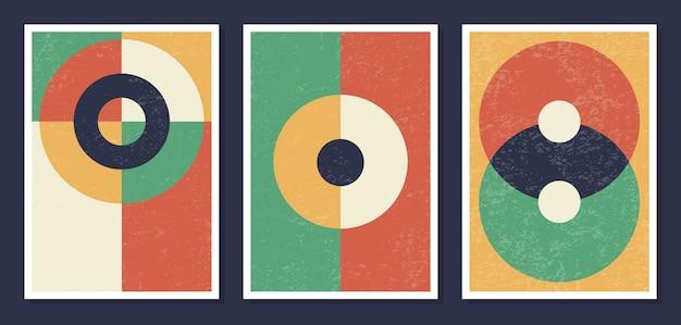 Cartazes de arte geométrica minimalista na parede