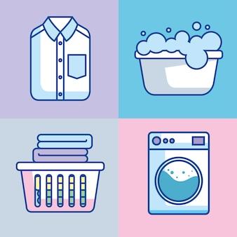 Cartazes de serviço de lavanderia