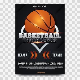 Cartazes de torneio de basquete
