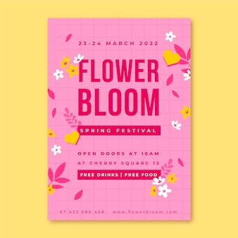 Cartazes florais minimalistas da primavera