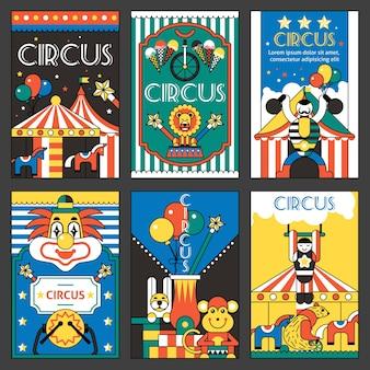 Cartazes retro do circo