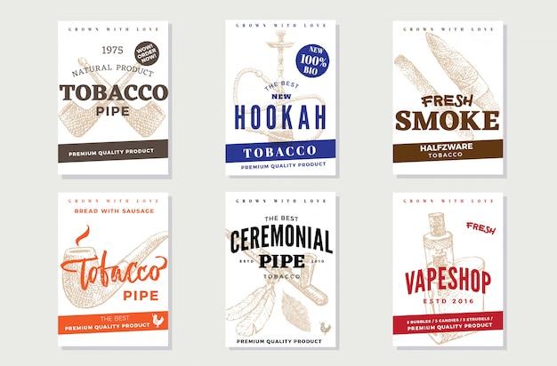 Cartazes vintage de propaganda de tabaco