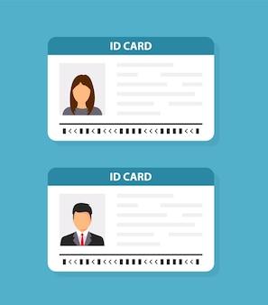 Carteira de identidade. ícone do cartão de identificação. design plano de ilustração vetorial.