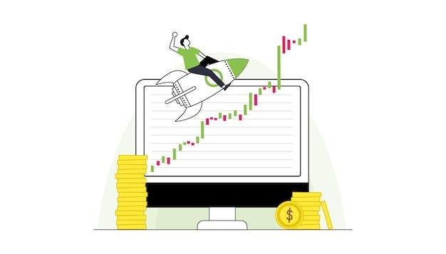 Carteira e notas ou moedas vetor de conceito de dinheiro de tempo relógio e ampulheta laptop e computador
