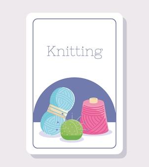 Cartel de agulhas de tricô