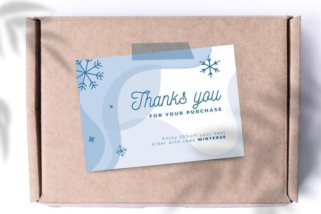Cartões abstratos de inverno monocolor