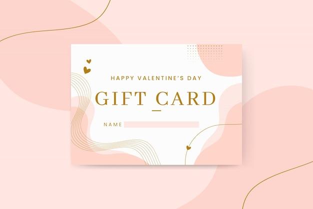 Cartões abstratos e elegantes para o dia dos namorados