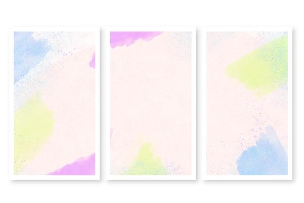 Cartões abstratos em aquarela