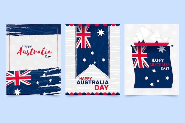 Cartões comemorativos do dia da austrália