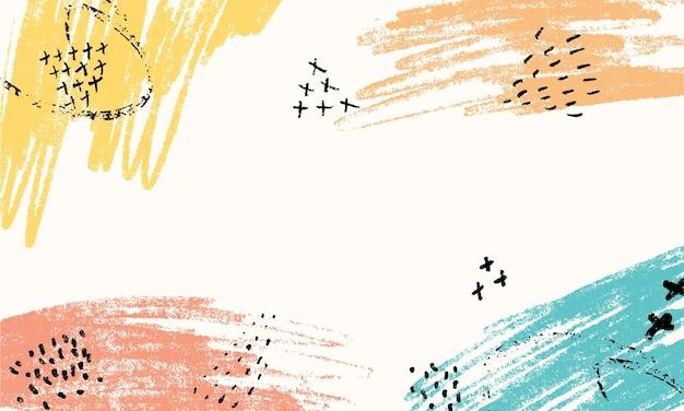 Cartões criativos artísticos com fundo de pinceladas