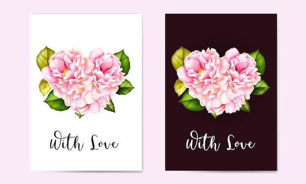 Cartões de casamento aquarela com moldura floral