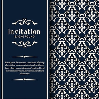Cartões de convite de casamento decorativos