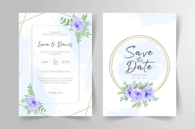 Cartões de convite de casamento elegante