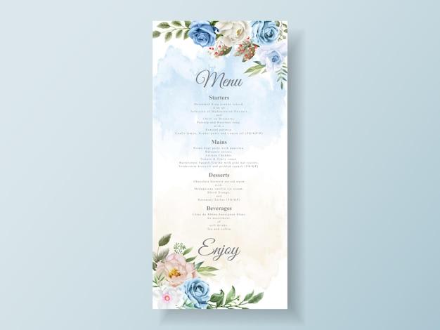 Cartões de convite de casamento florais lindos e elegantes