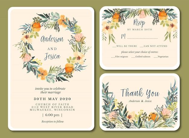 Cartões de convite de casamento