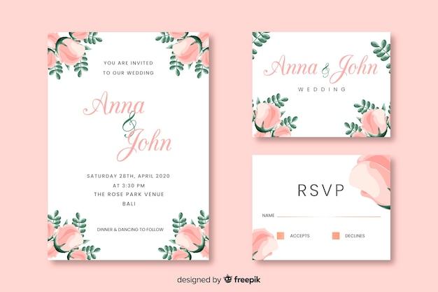 Cartões de convite de festa com design floral