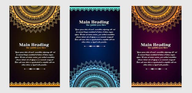 Cartões de convite de luxo premium com fundo escuro