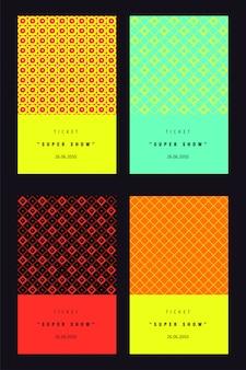 Cartões de convite ou conjunto de bilhetes.