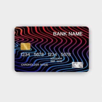 Cartões de crédito com linhas abstratas