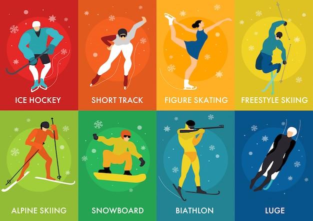 Cartões de esportes de inverno