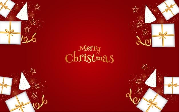 Cartões de feliz natal e presentes de natal