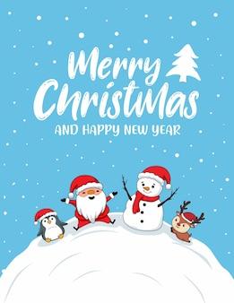 Cartões de feliz natal fofos