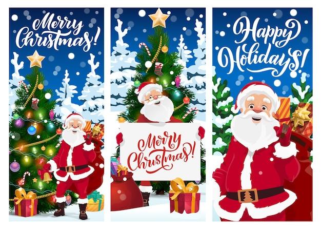 Cartões de feliz natal ou banners.