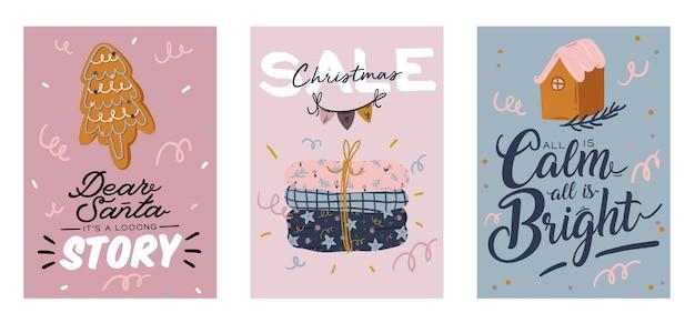 Cartões de feliz natal ou feliz ano novo de 2021